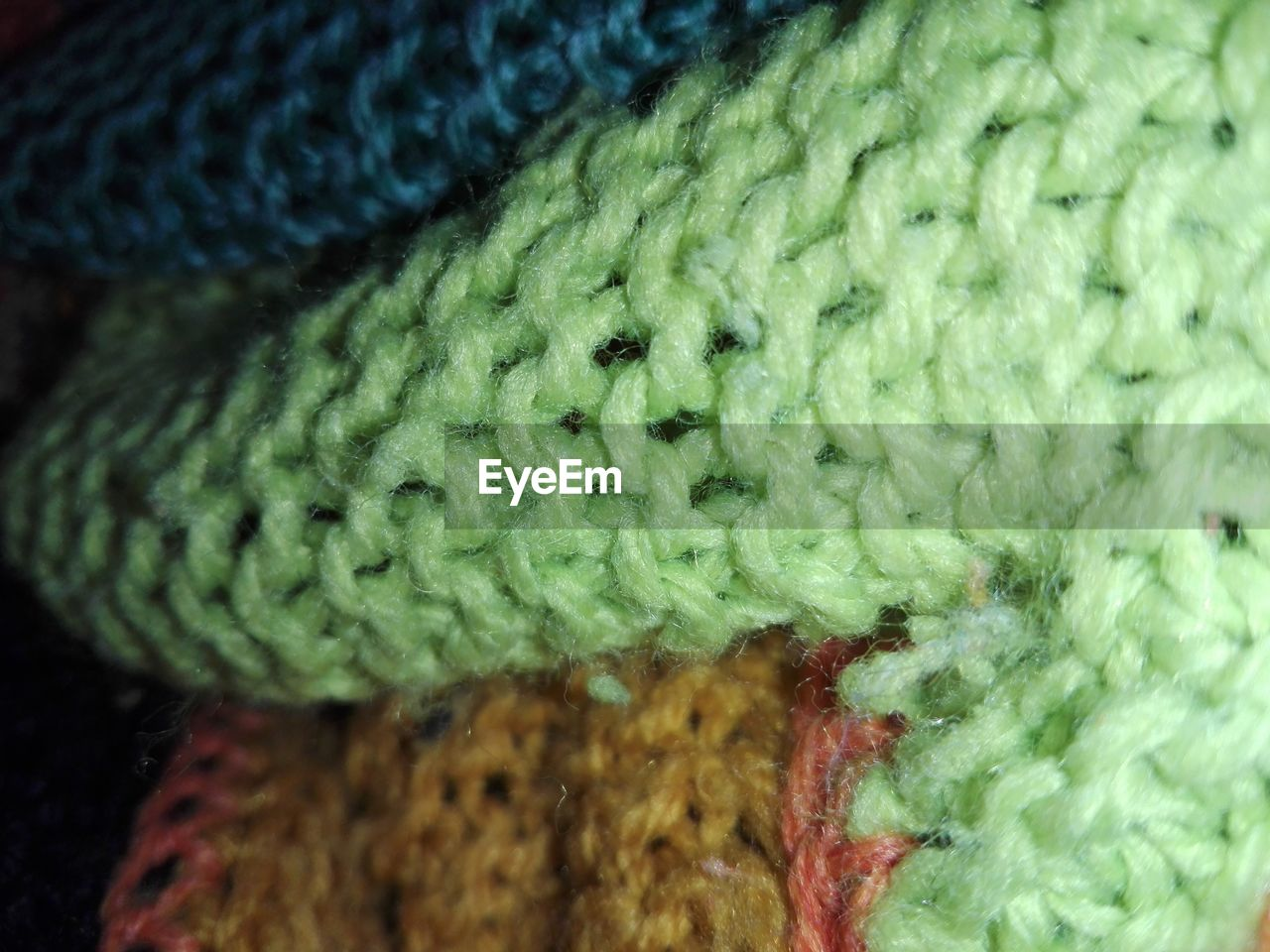 wool, close-up, art and craft, woolen, green color, textured, pattern, full frame, textile, indoors, knitting, no people, day