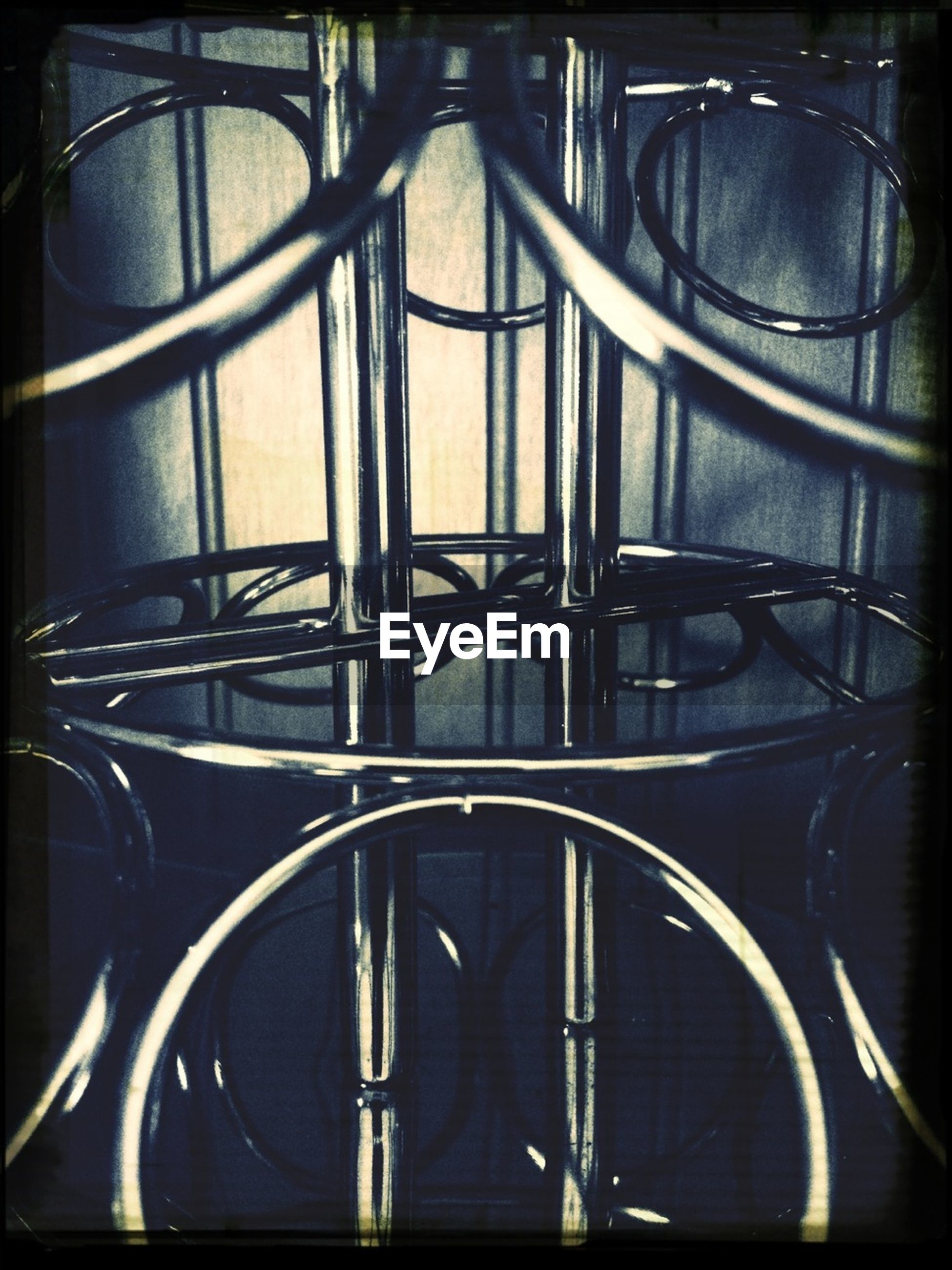indoors, metal, built structure, architecture, railing, pattern, circle, close-up, metal grate, design, full frame, metallic, no people, backgrounds, geometric shape, building exterior, transfer print, building, auto post production filter, window