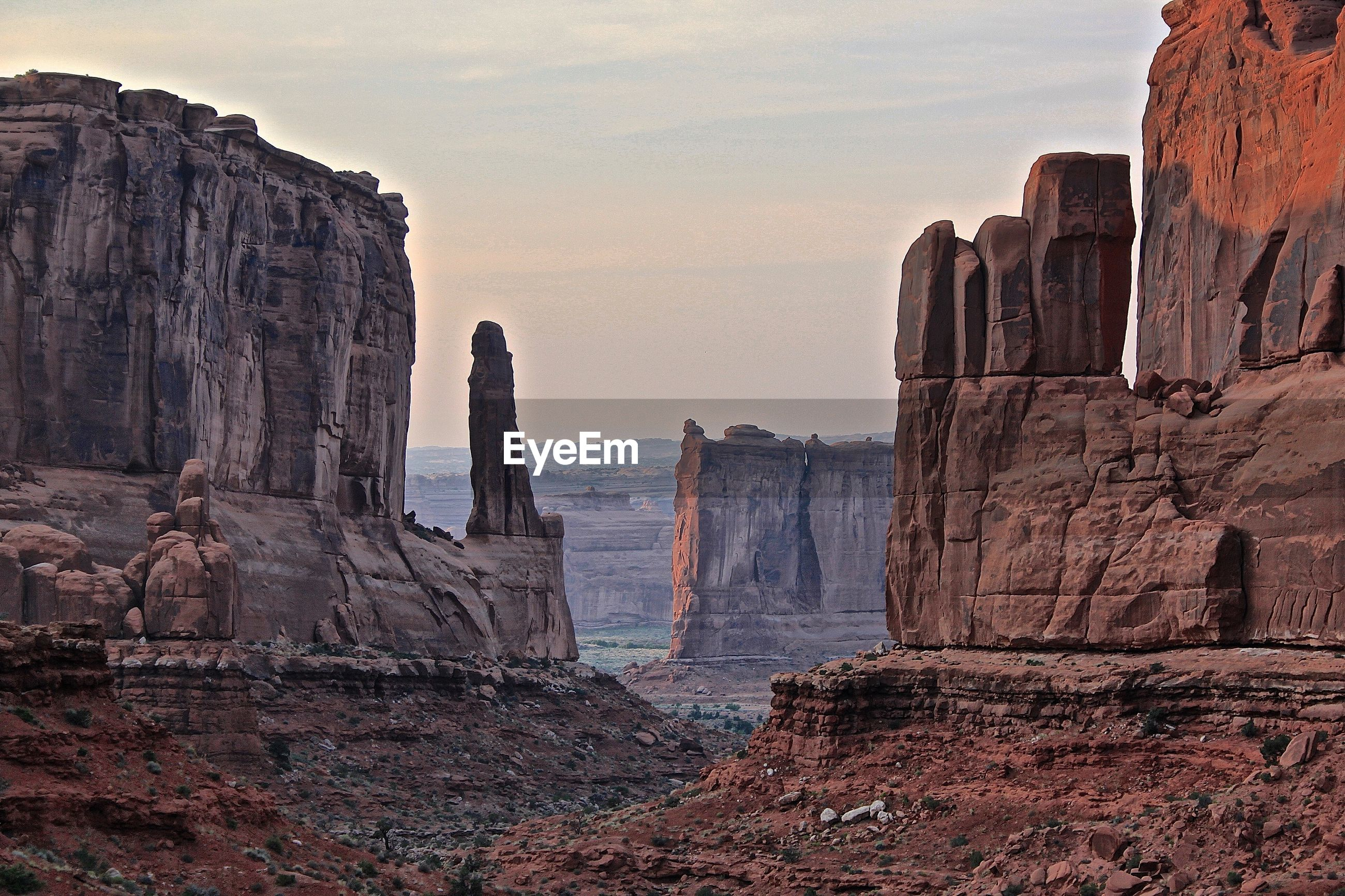 Scenic view of arches national park