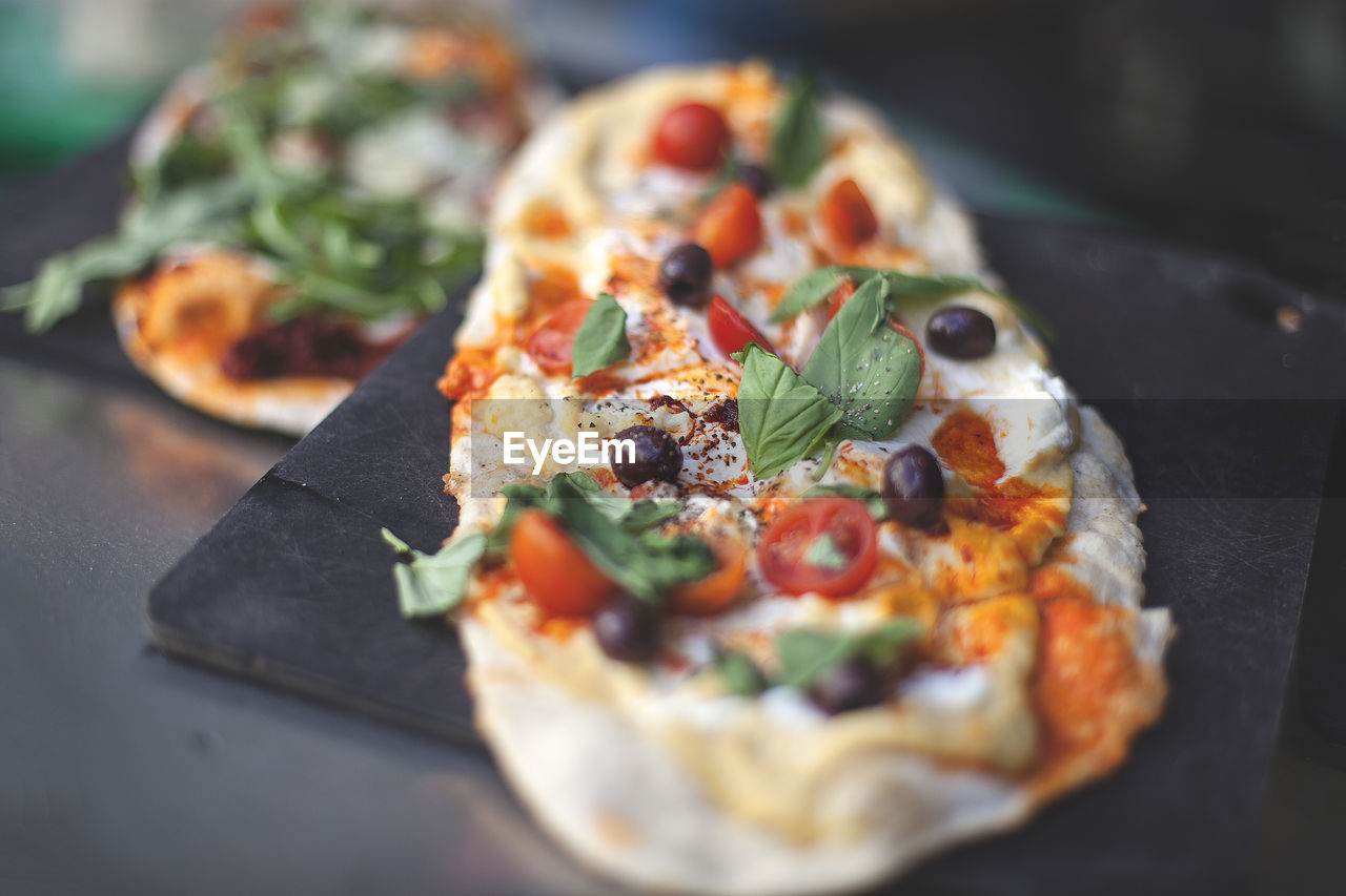 Close-Up Of Pizza Served