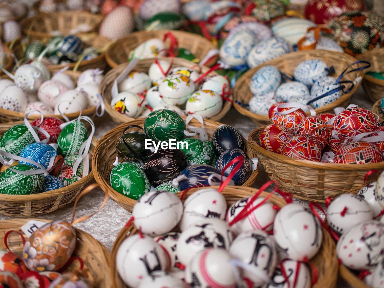 Full Frame Shot Of Easter Eggs