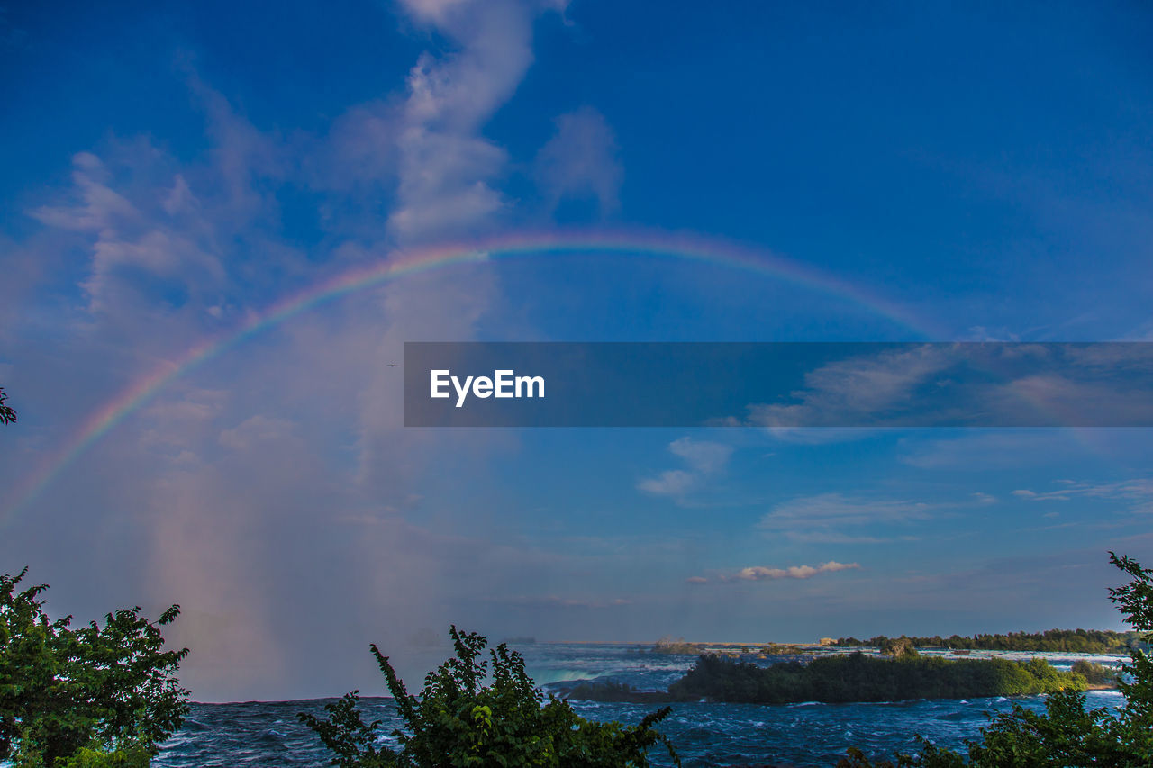 rainbow, double rainbow, sky, beauty in nature, nature, scenics, cloud - sky, outdoors, tranquil scene, day, no people, tranquility, water, motion, bubble wand