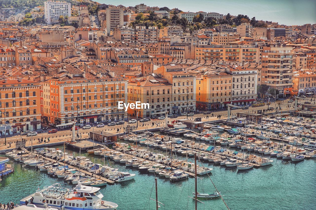 High Angle View Of Marseille