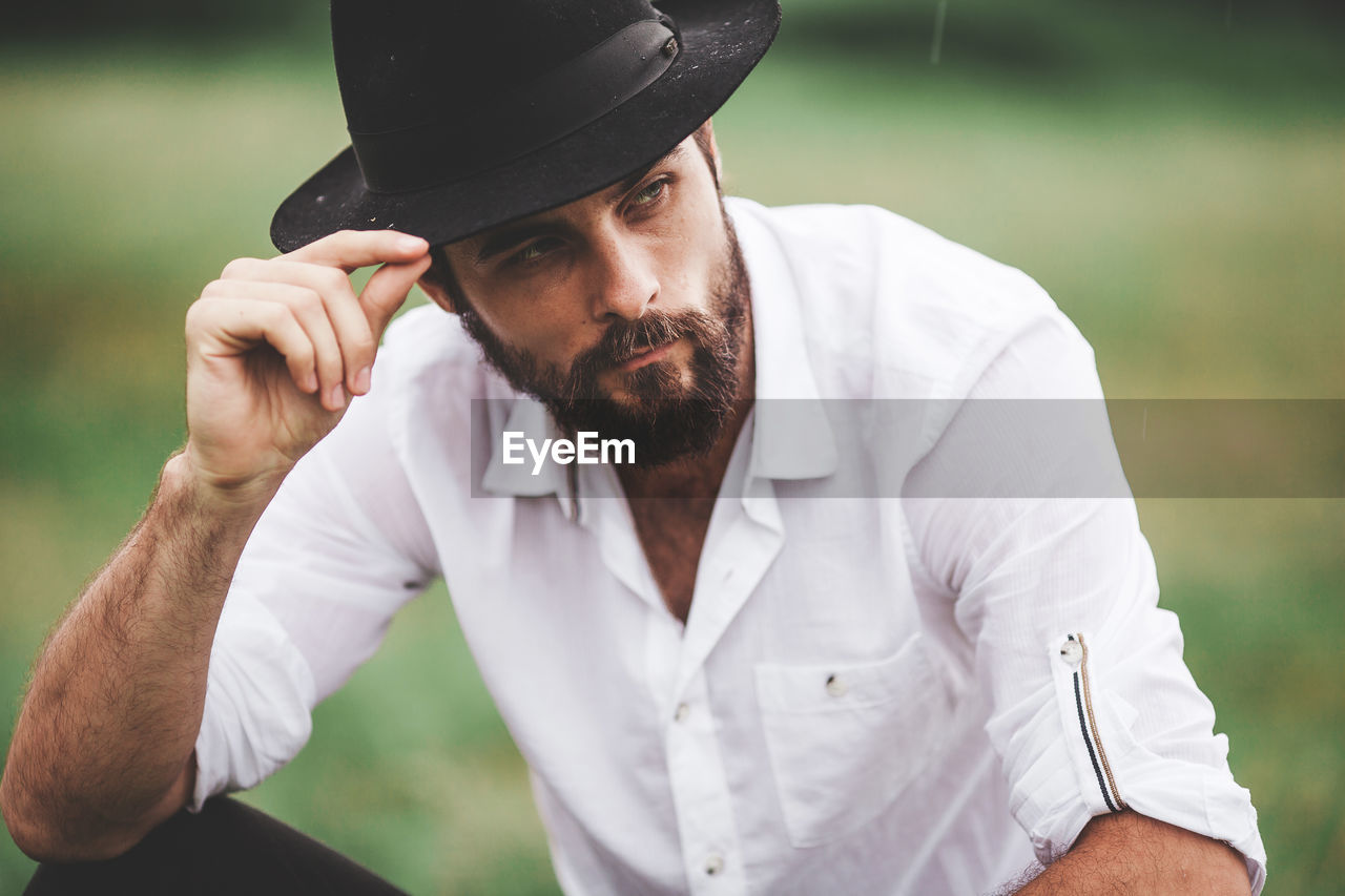 Handsome Young Man Wearing Hat