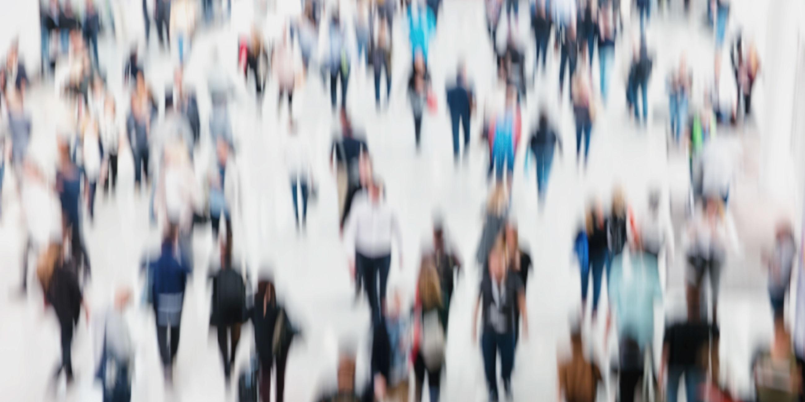 Full frame shot of crowd walking in city