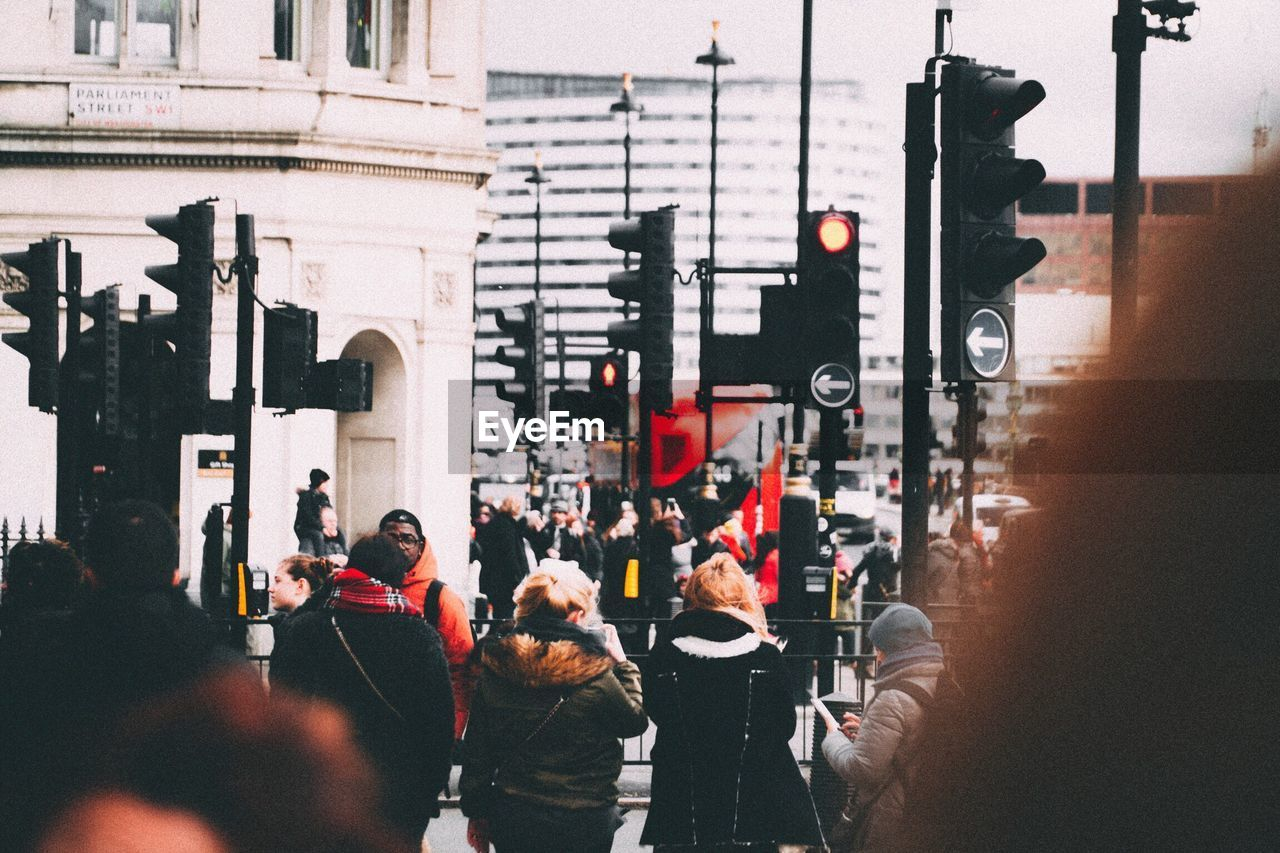 Group Of People In City