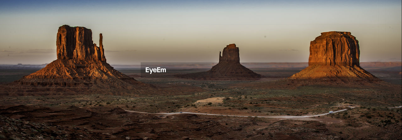 Panoramic View Of Monument Valley