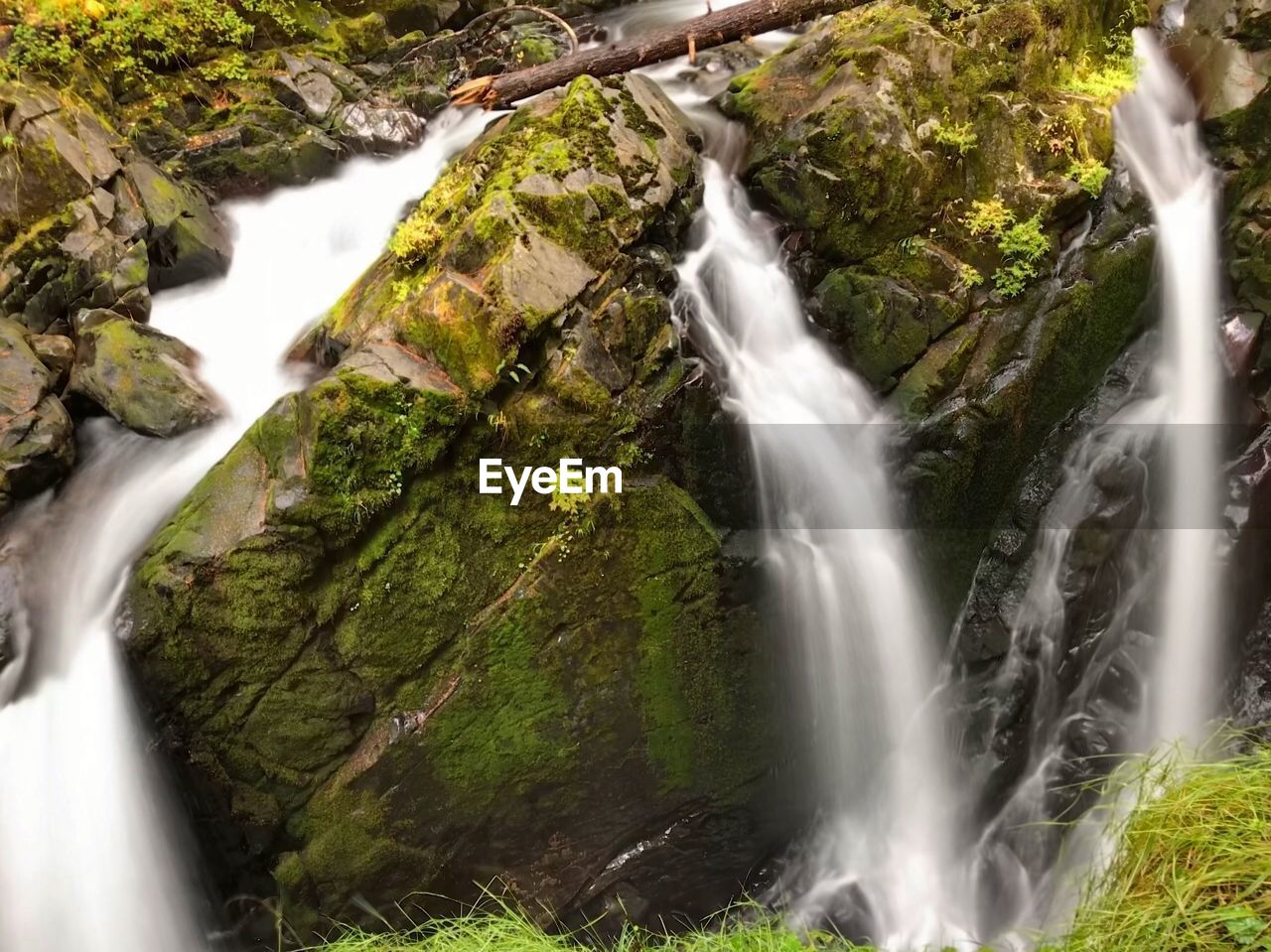 waterfall, water, long exposure, motion, rock, beauty in nature, scenics - nature, rock - object, blurred motion, solid, flowing water, moss, land, nature, forest, plant, tree, no people, outdoors, flowing, power in nature, falling water, stream - flowing water, rainforest