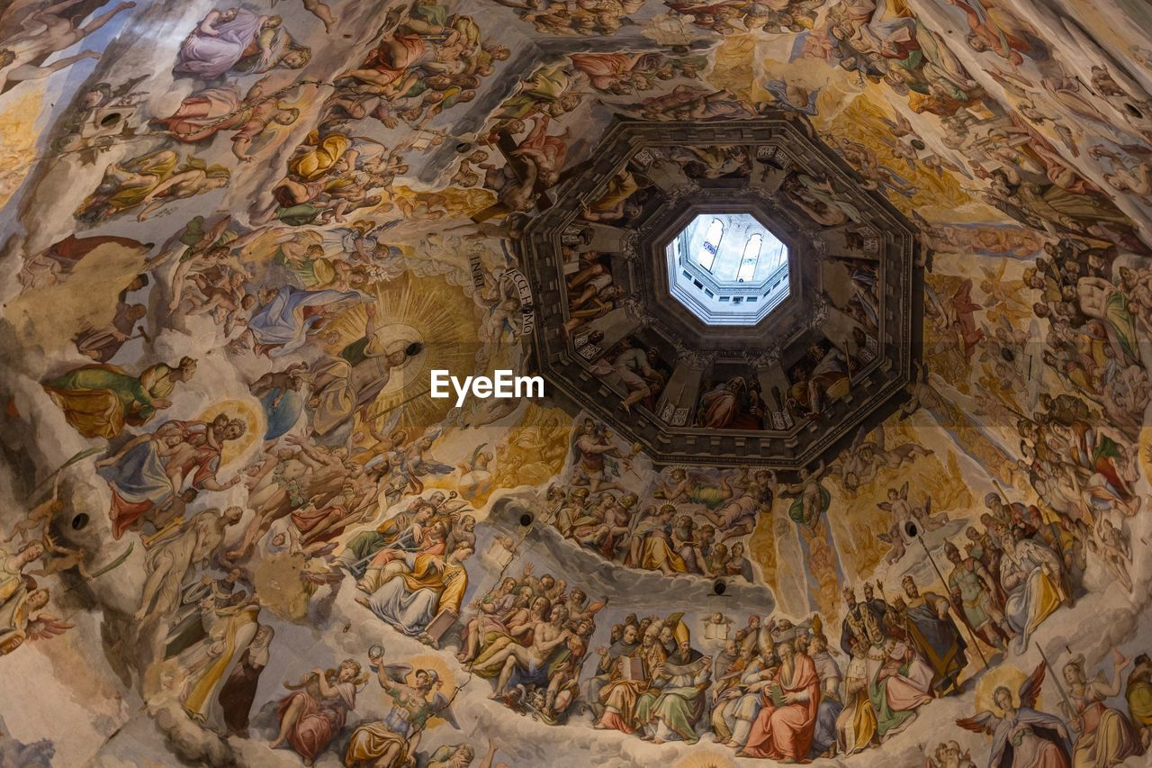 Low Angle View Of Cupola In Church