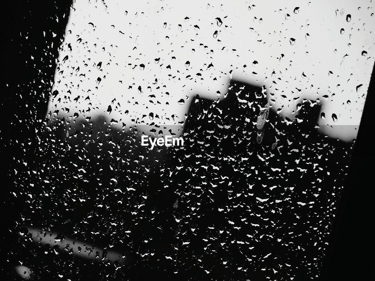 drop, water, wet, water drop, droplet, raindrop, indoors, window, no people, close-up, sky, day, freshness