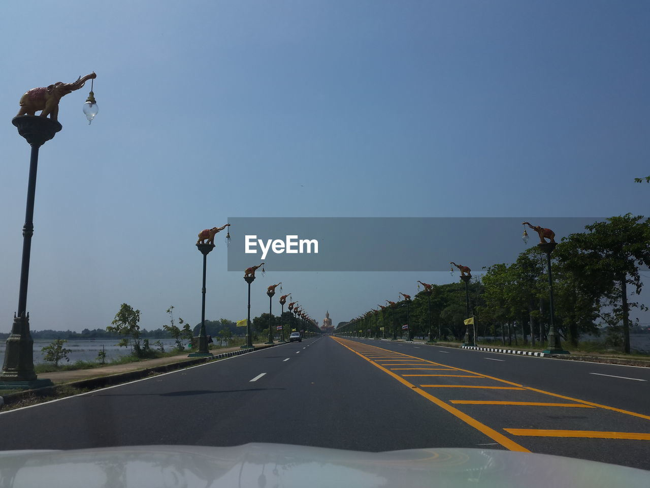 transportation, car, road, mode of transport, the way forward, land vehicle, clear sky, tree, outdoors, day, sky, no people