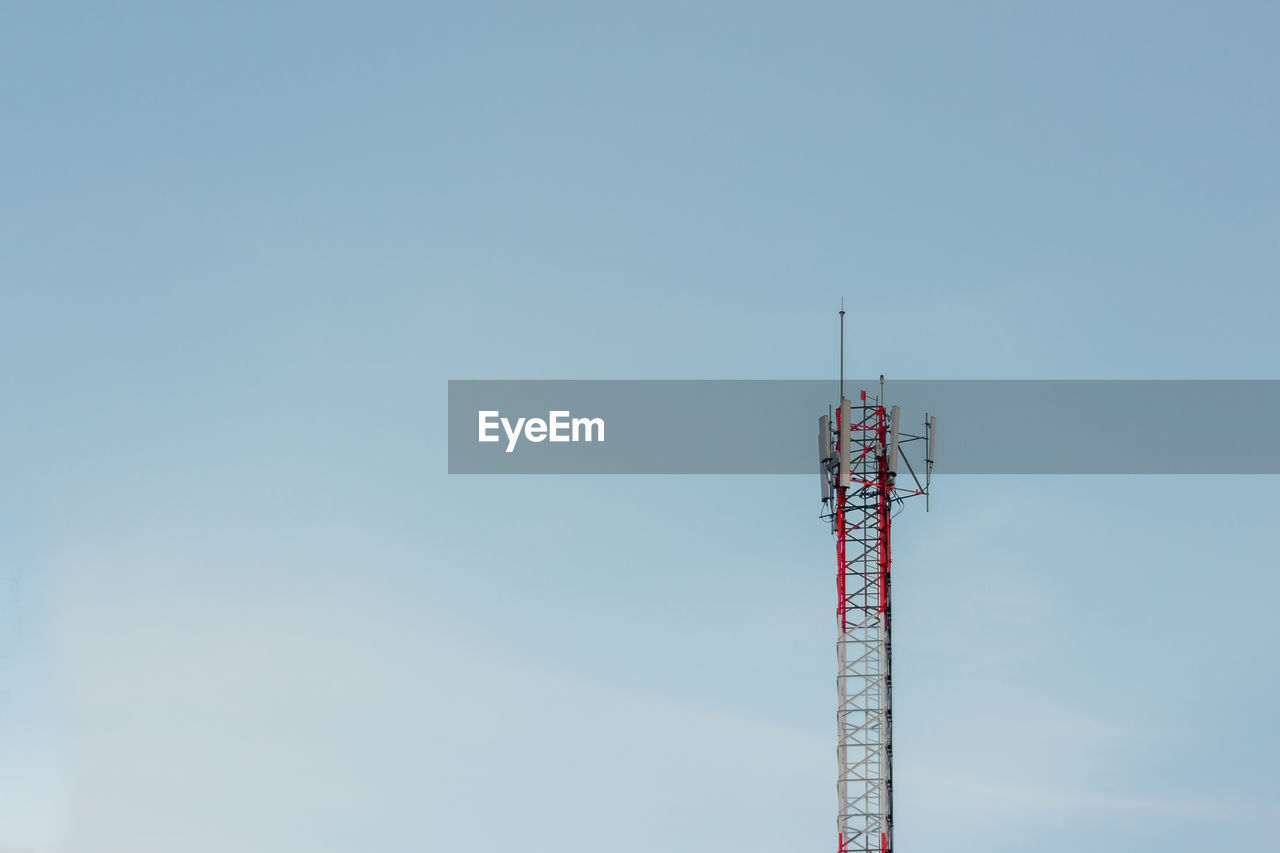 sky, tower, architecture, communication, technology, low angle view, built structure, tall - high, copy space, broadcasting, antenna - aerial, no people, global communications, satellite, nature, wireless technology, day, connection, satellite dish, outdoors