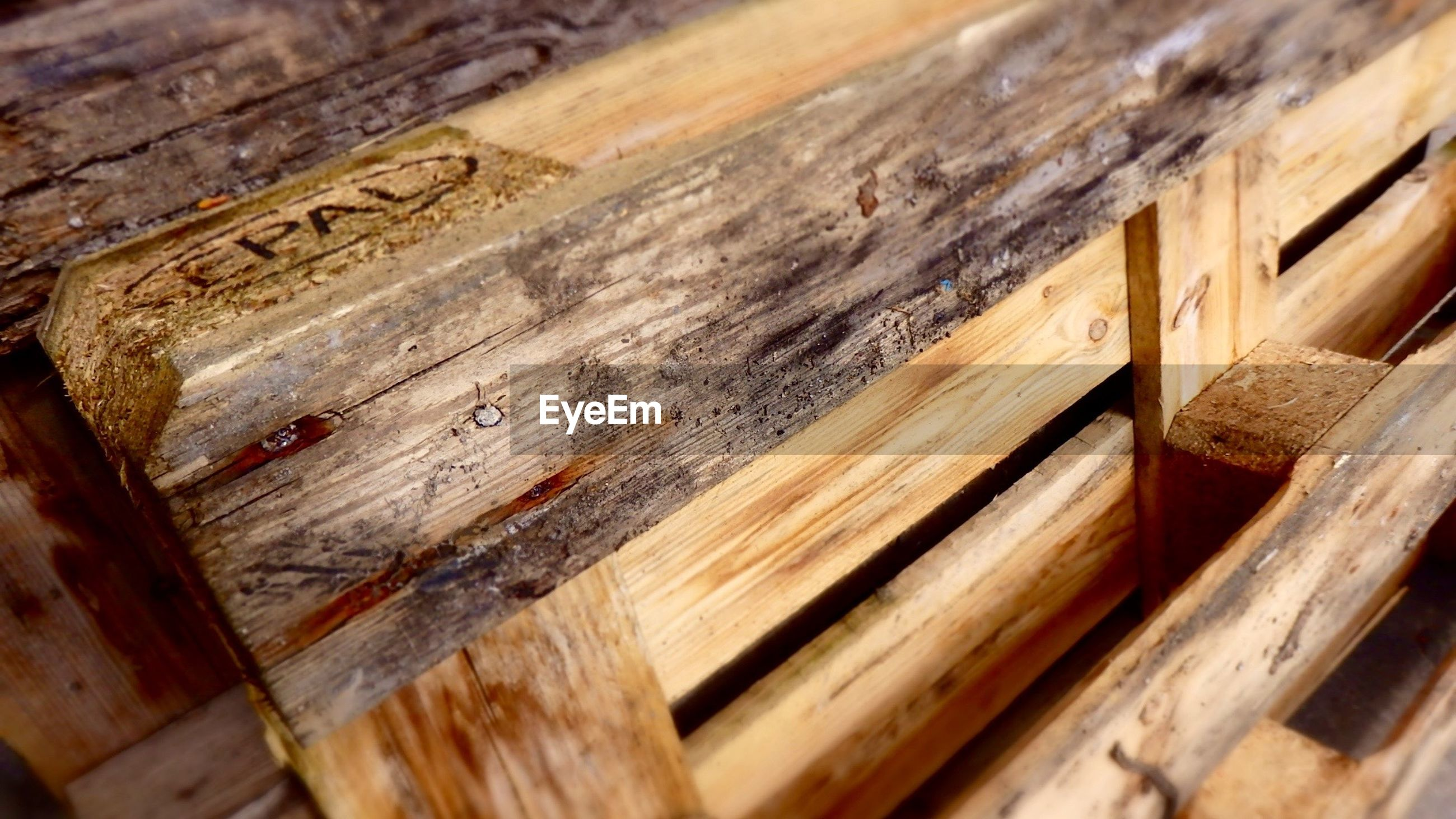 Close Up Of Wooden Palette