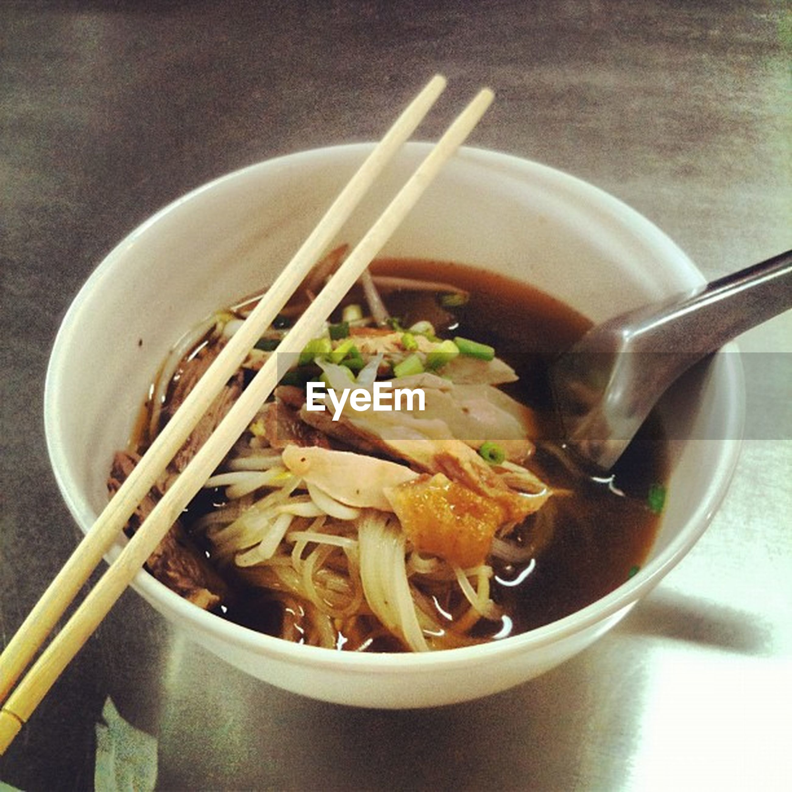 food and drink, food, indoors, freshness, bowl, healthy eating, spoon, plate, table, meal, still life, ready-to-eat, fork, serving size, close-up, high angle view, soup, chopsticks, healthy lifestyle, prepared food