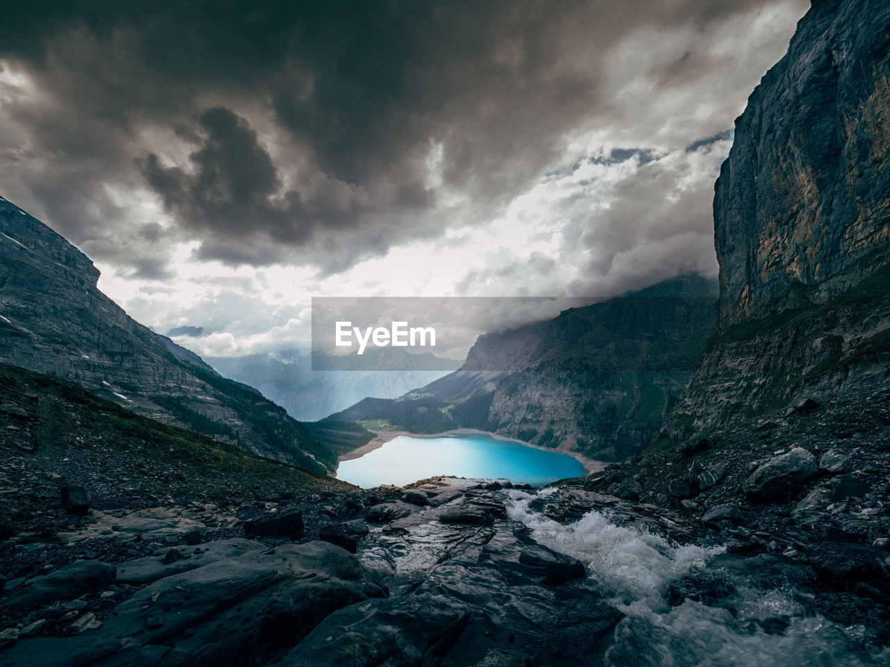 cloud - sky, mountain, sky, beauty in nature, scenics - nature, nature, mountain range, rock, water, environment, tranquil scene, no people, non-urban scene, tranquility, rock - object, solid, idyllic, cold temperature, mountain peak, power in nature, formation, flowing water