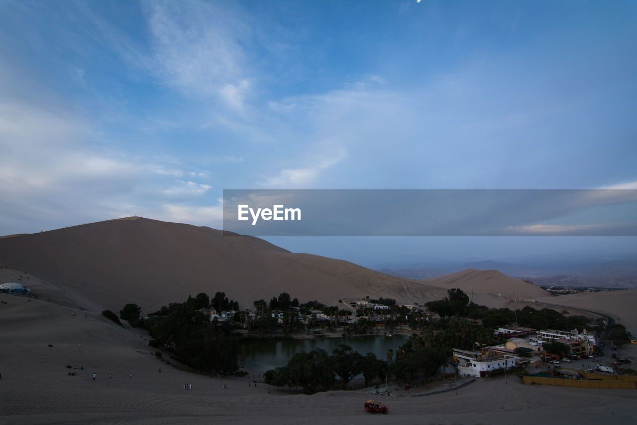View Of Desert With Lagoon