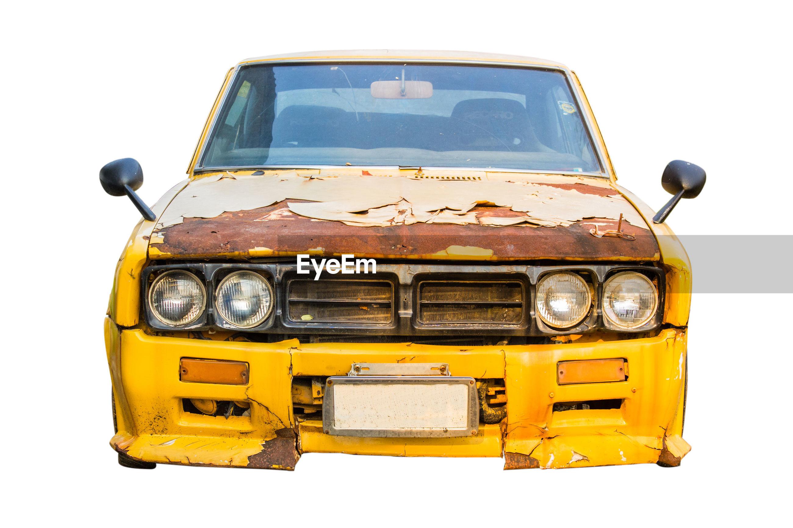 Car against white background