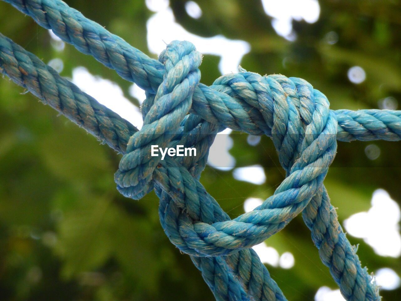 strength, rope, close-up, focus on foreground, no people, pattern, connection, day, twisted, durability, textured, tied knot, nature, tied up, metal, blue, outdoors, safety, green color, water, tangled, turquoise colored