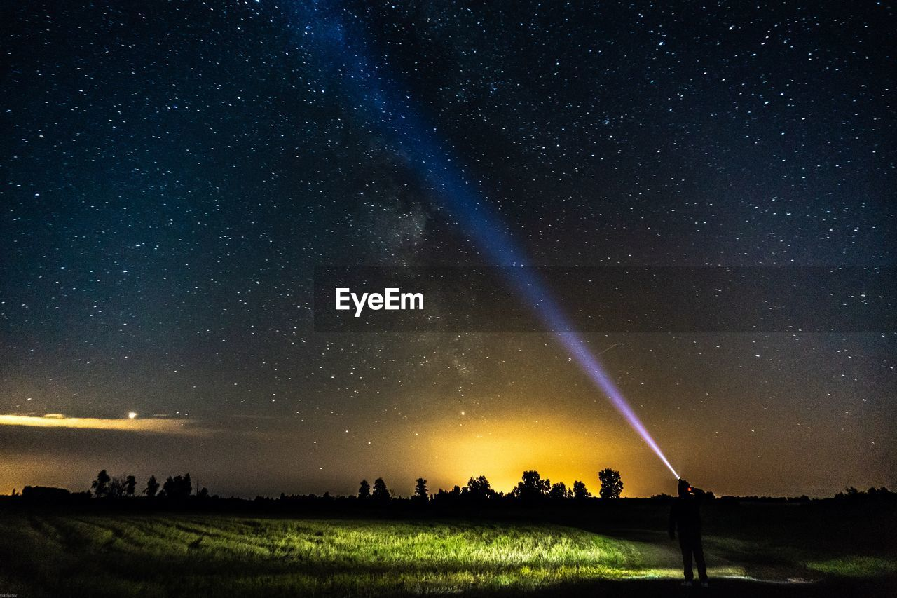 scenics - nature, beauty in nature, sky, star - space, night, tranquility, tranquil scene, land, astronomy, nature, field, landscape, space, idyllic, environment, star, star field, galaxy, non-urban scene, no people