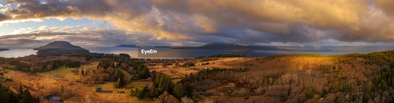 cloud - sky, sky, scenics - nature, beauty in nature, tranquil scene, tranquility, nature, plant, mountain, environment, panoramic, sunset, landscape, no people, non-urban scene, idyllic, land, outdoors, tree