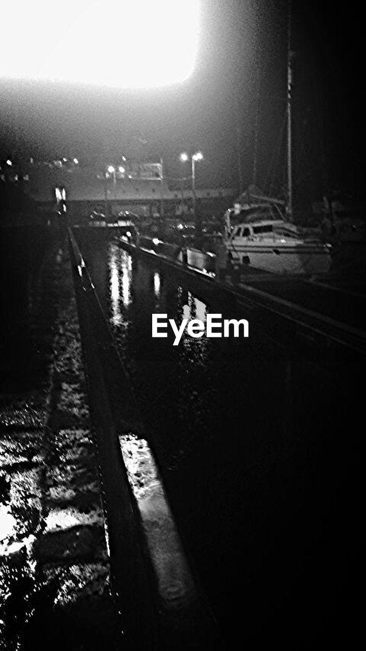 water, night, outdoors, no people, transportation, illuminated, nautical vessel, nature, city, sky