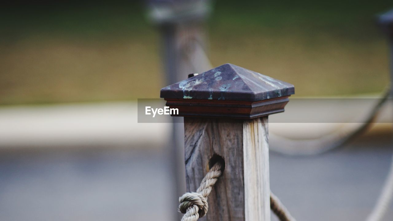 Close-Up Of Wooden Post