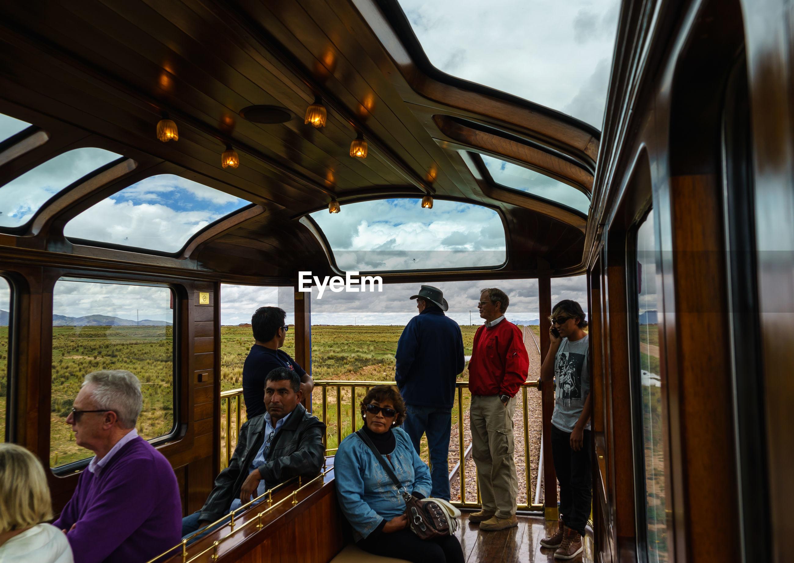 Passengers in train