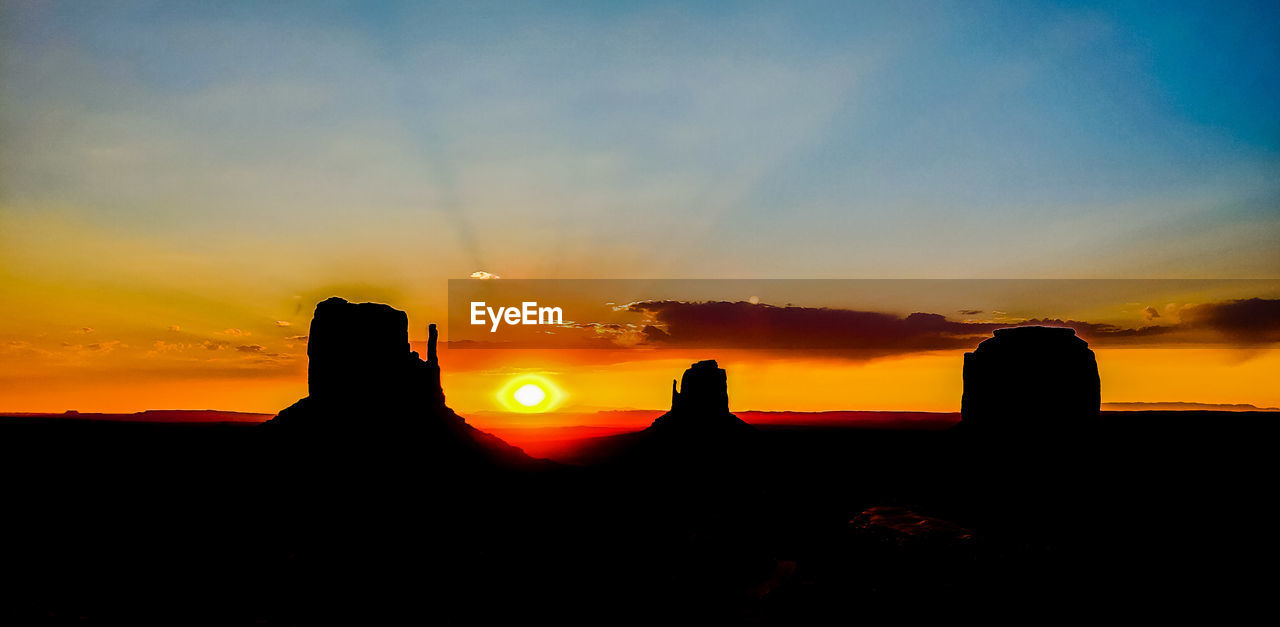 sunset, sky, silhouette, cloud - sky, beauty in nature, orange color, scenics - nature, tranquil scene, nature, tranquility, idyllic, sun, no people, outdoors, non-urban scene, environment, sunlight, land, landscape, rock