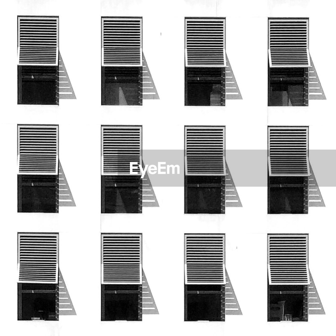 building exterior, architecture, built structure, no people, pattern, window, side by side, in a row, backgrounds, building, full frame, repetition, residential district, shape, outdoors, white background, design, cut out, city, striped