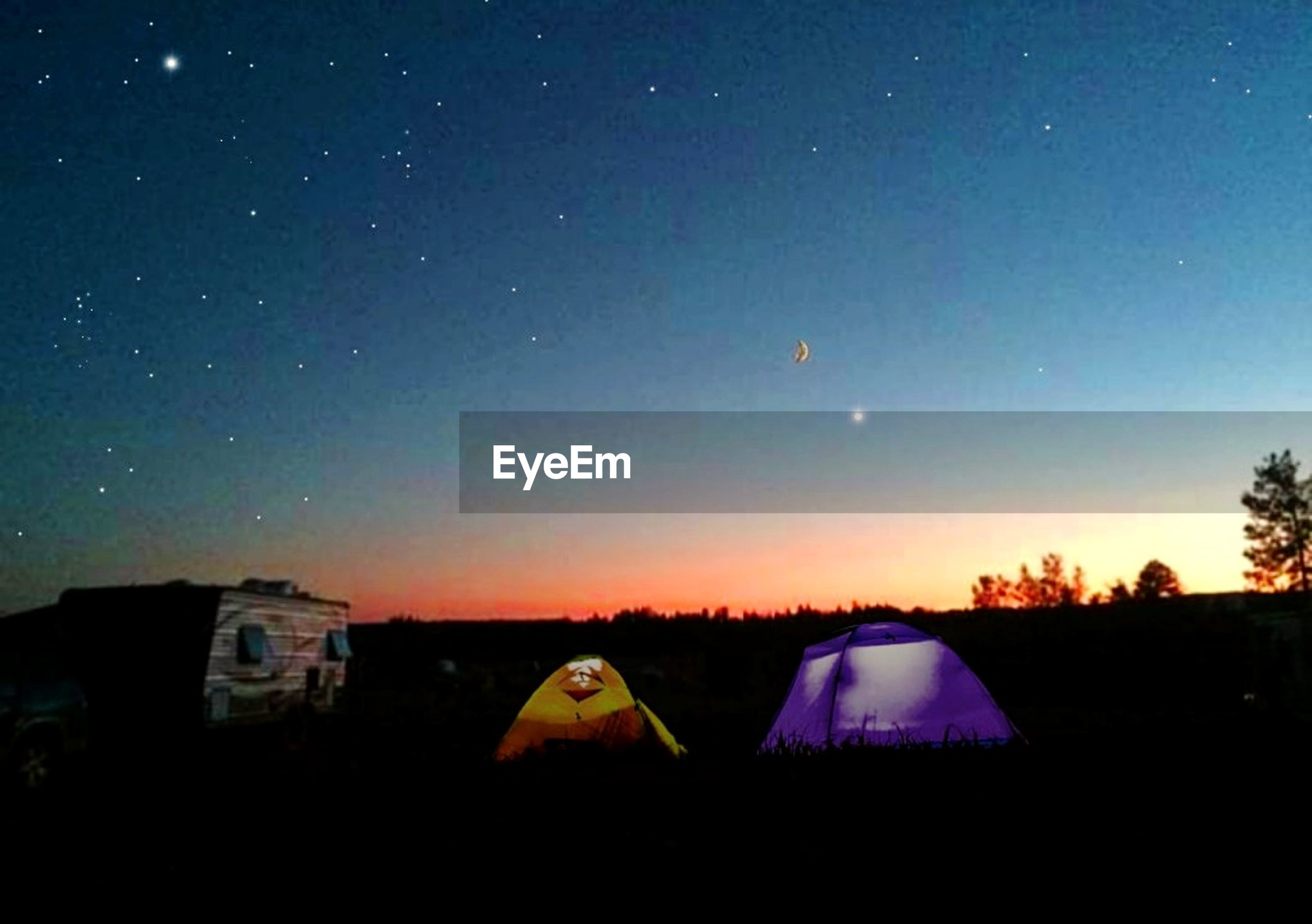 sky, tent, night, nature, scenics - nature, no people, beauty in nature, sunset, tranquility, environment, space, camping, tranquil scene, star - space, outdoors, architecture, land, astronomy, landscape, idyllic, lens flare, dark