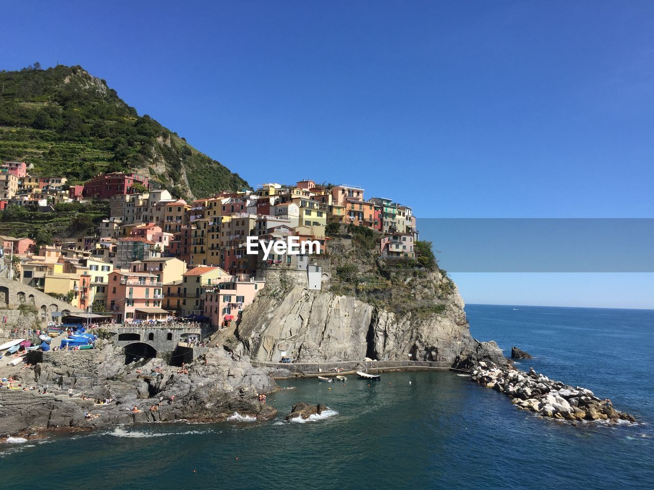 Residential District On Cliff At Cinque Terre