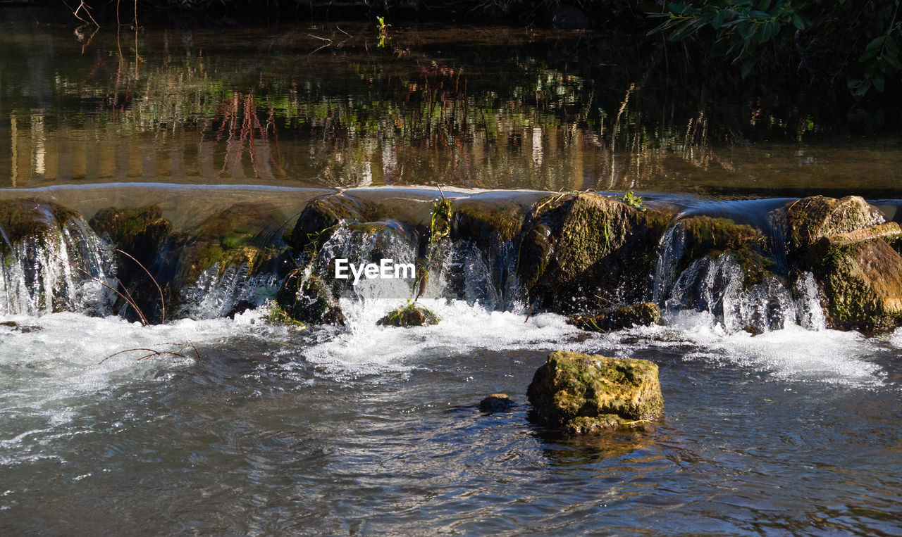 water, motion, flowing water, beauty in nature, waterfront, nature, no people, tree, rock, scenics - nature, solid, long exposure, forest, day, blurred motion, plant, river, land, rock - object, flowing, outdoors, stream - flowing water, power in nature, falling water