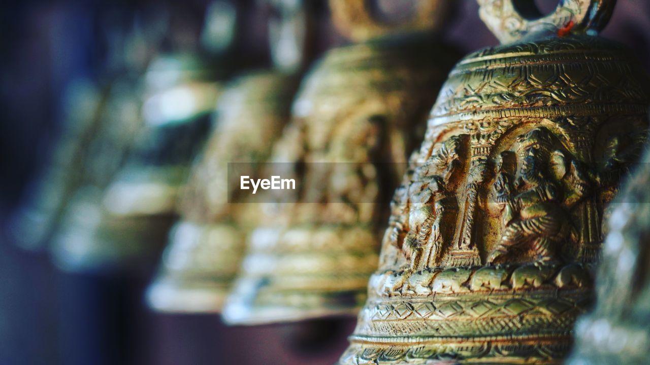 Close-up of bells