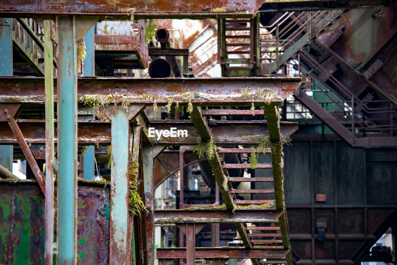 Abandoned built structure in factory