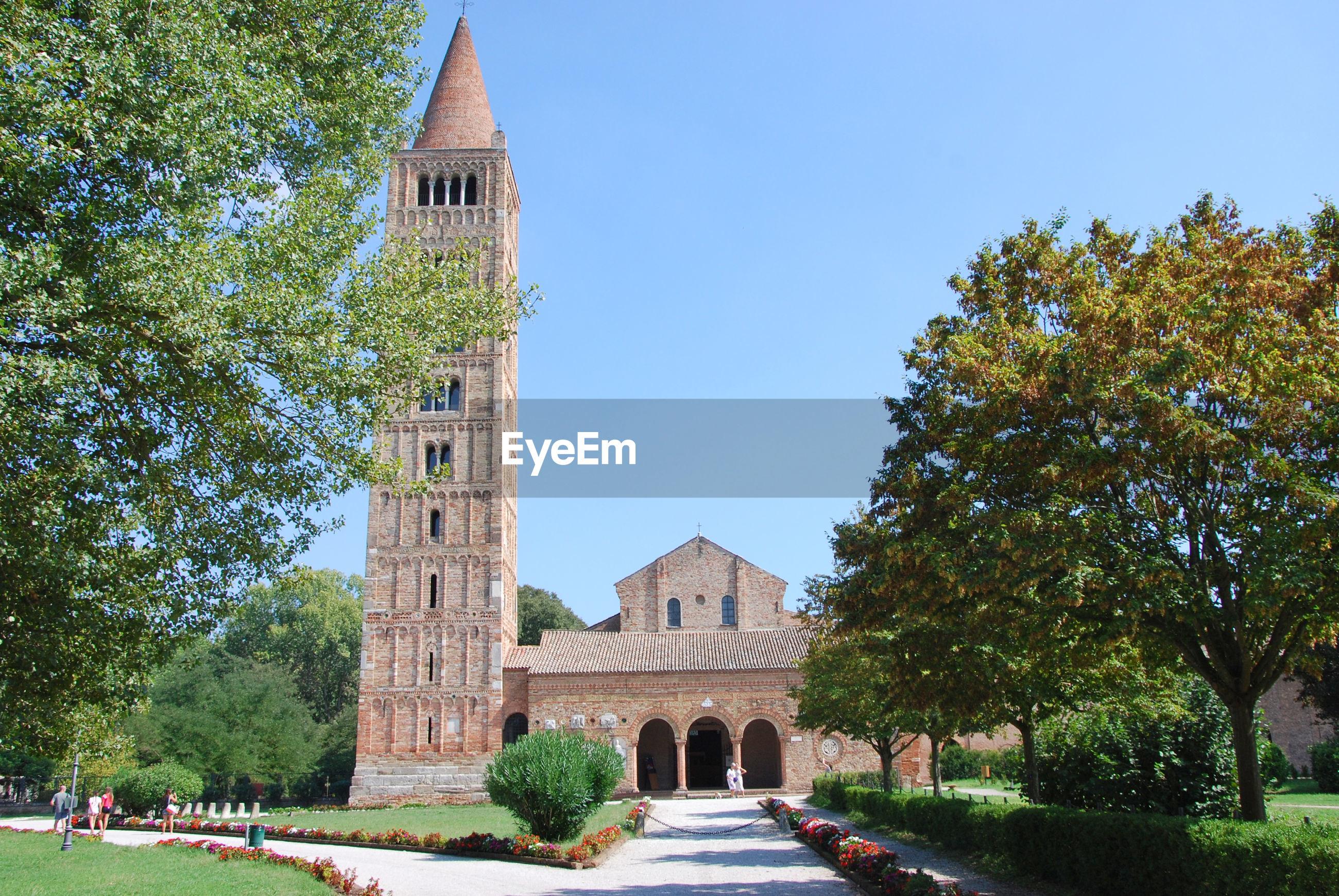 Abbey of pomposa at codigoro, ferrara, emilia romagna, italy.