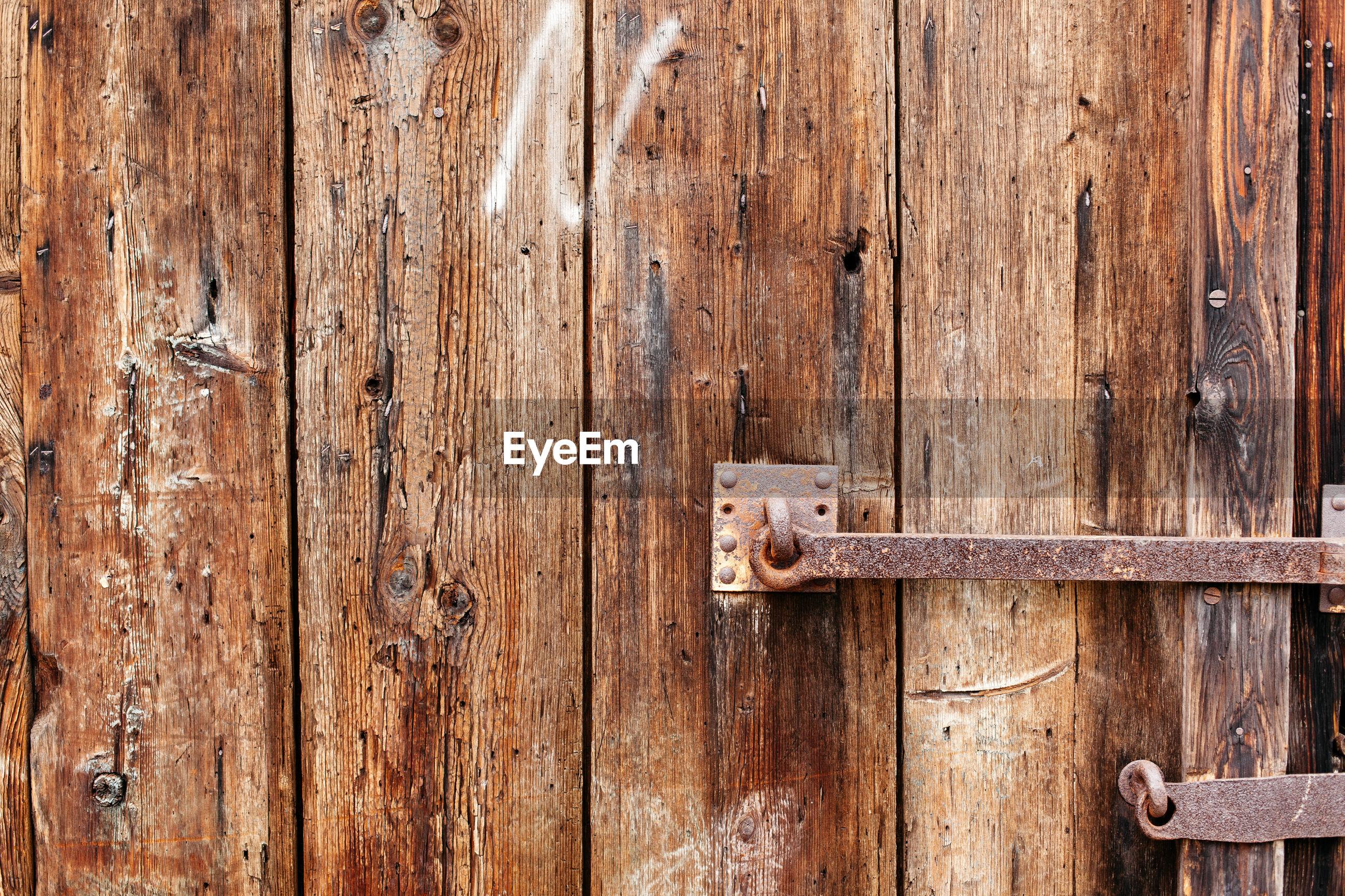 Full frame image of old weathered wood