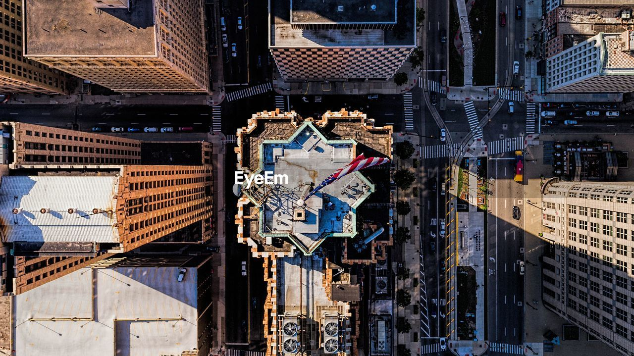 Drone Shot Of Buildings With Streets
