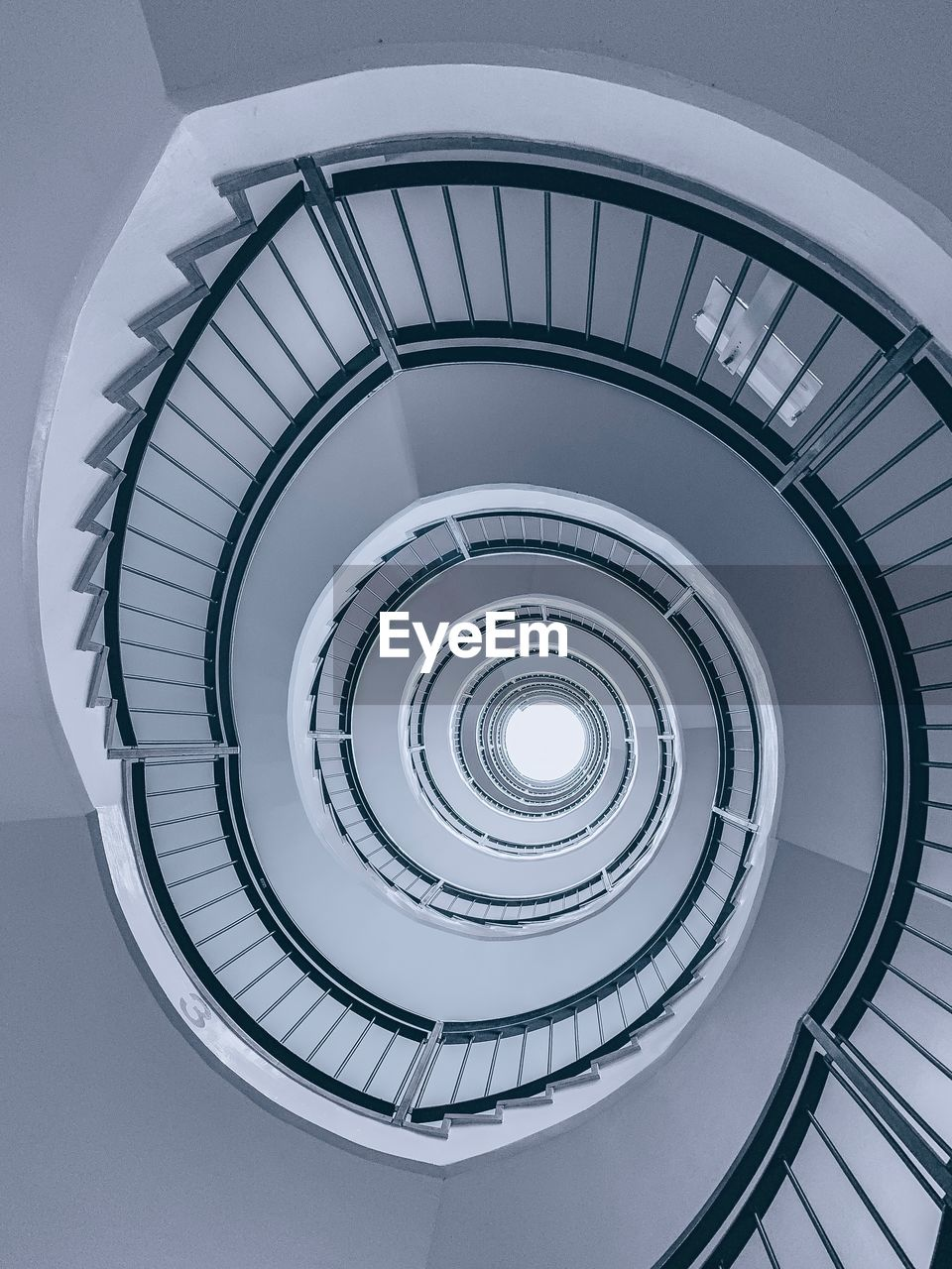 spiral, staircase, architecture, built structure, steps and staircases, railing, spiral staircase, low angle view, shape, directly below, geometric shape, pattern, design, no people, circle, indoors, diminishing perspective, day, architectural feature, building, ceiling, concentric