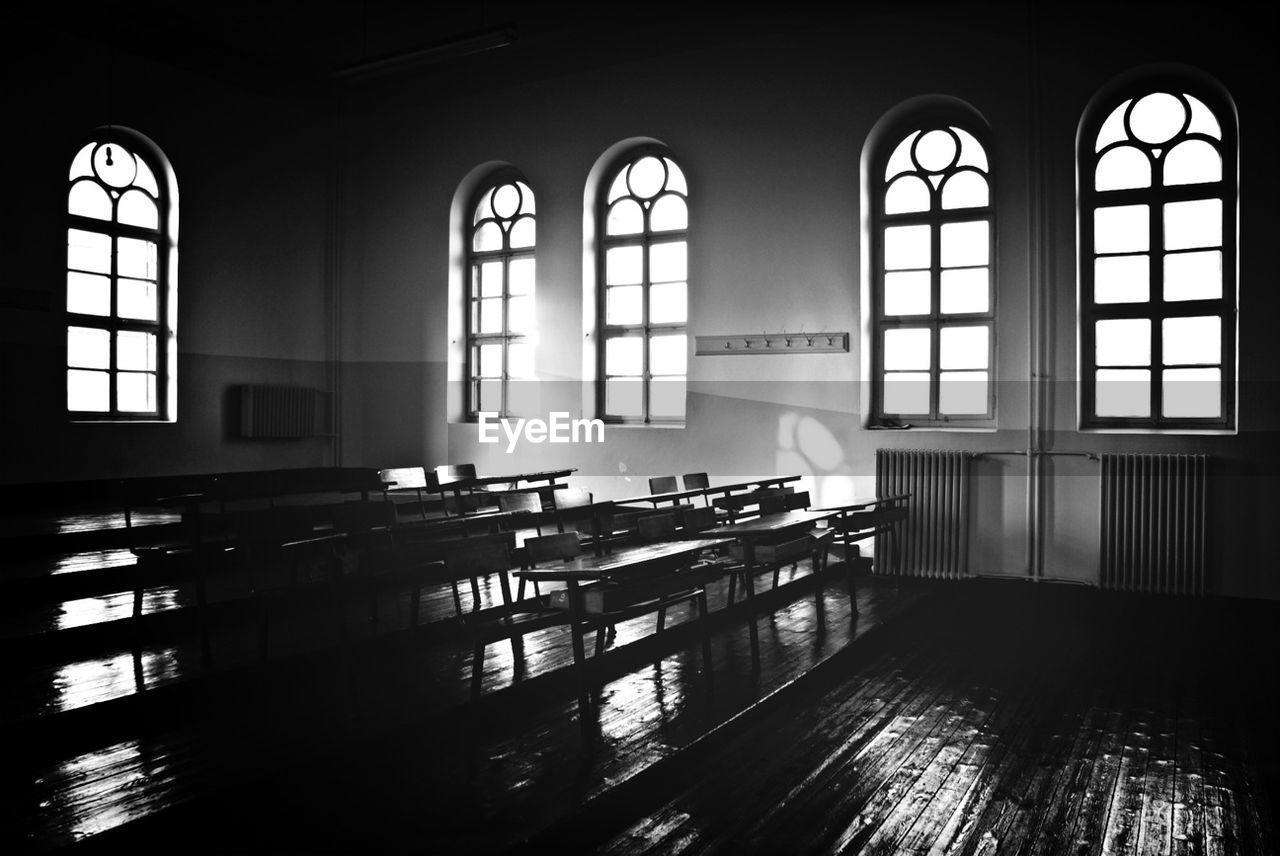 View Of Empty Classroom