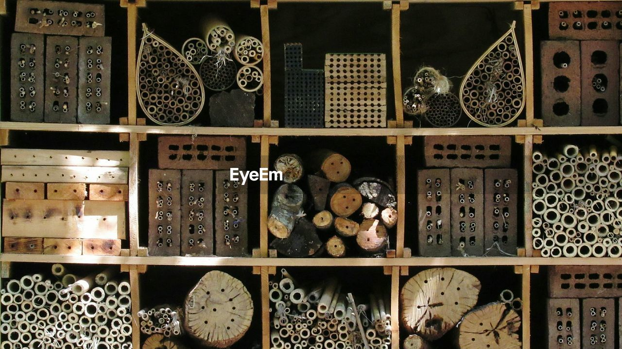Full Frame Shot Of Insect Hotel