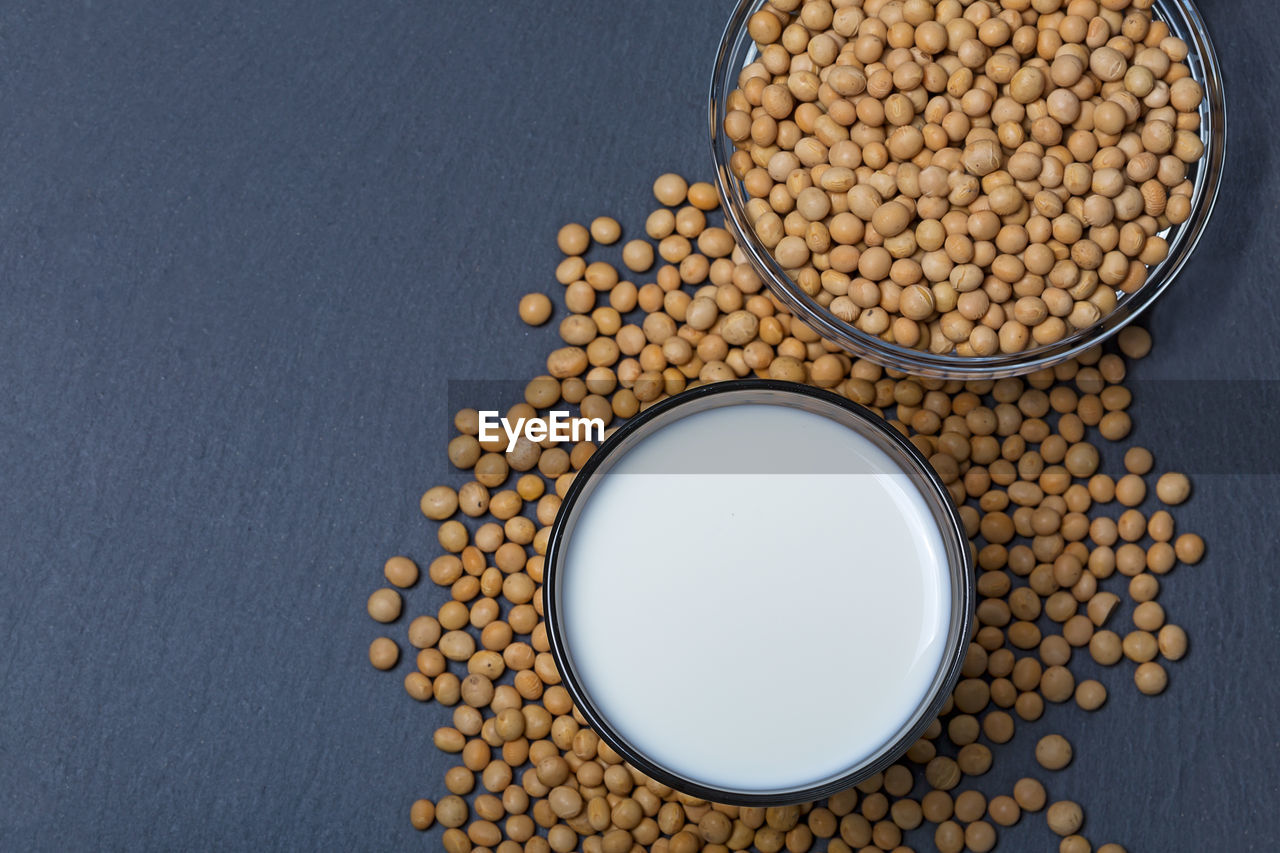 food, food and drink, wellbeing, large group of objects, indoors, still life, freshness, healthy eating, no people, raw food, directly above, bowl, studio shot, bean, high angle view, vegetable, container, abundance, lentil, soybean, legume family, vegetarian food