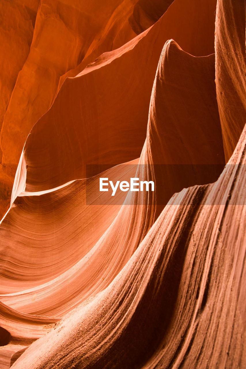 Macro shot of rock formation at canyon
