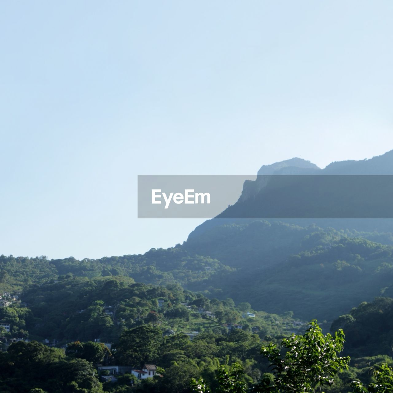 clear sky, mountain, nature, copy space, landscape, beauty in nature, tree, outdoors, no people, day, sky