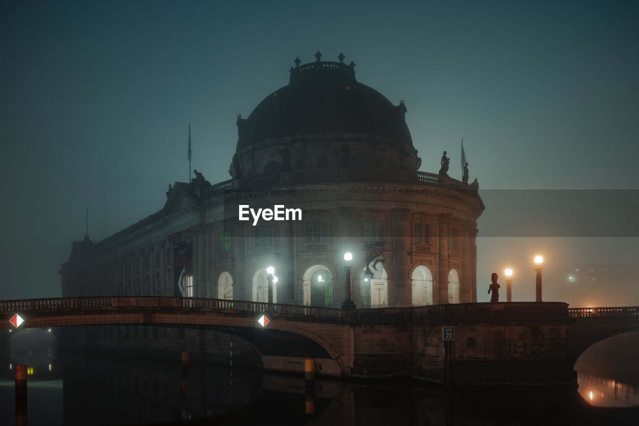 View Of Bode-Museum During Foggy Night