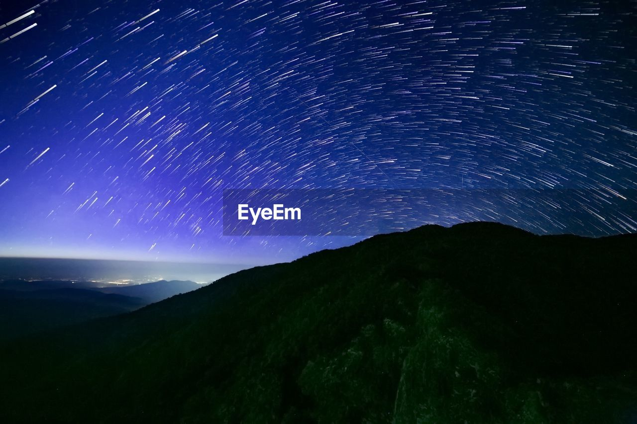 night, mountain, nature, scenics, beauty in nature, tranquil scene, tranquility, no people, star - space, star trail, astronomy, outdoors, galaxy, space, sky, milky way