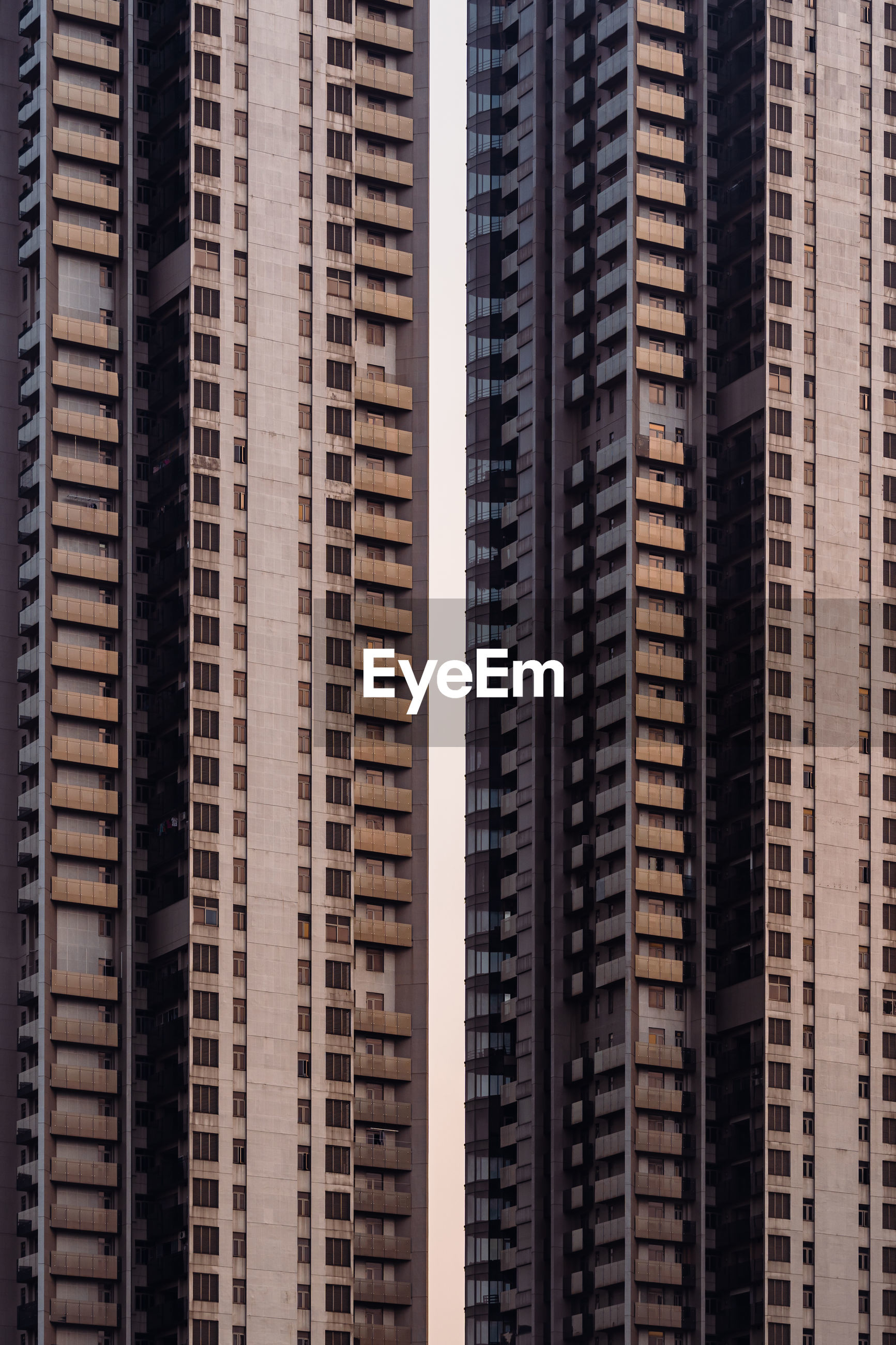 Modern buildings in city of hong kong