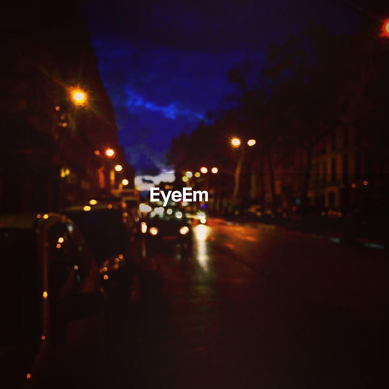 night, illuminated, street, car, city, outdoors, sky, no people, architecture