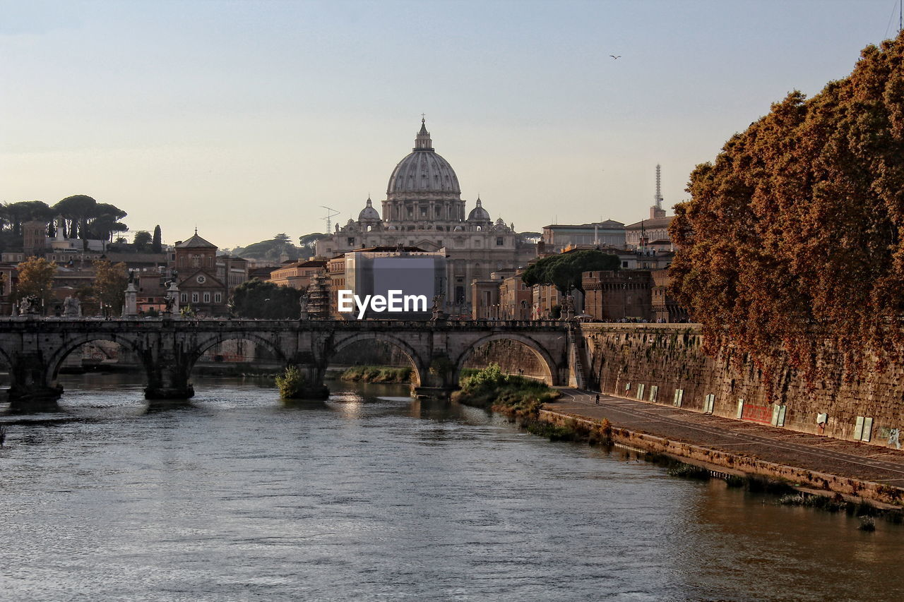 architecture, built structure, religion, river, water, dome, building exterior, spirituality, place of worship, history, outdoors, no people, sky, day, city