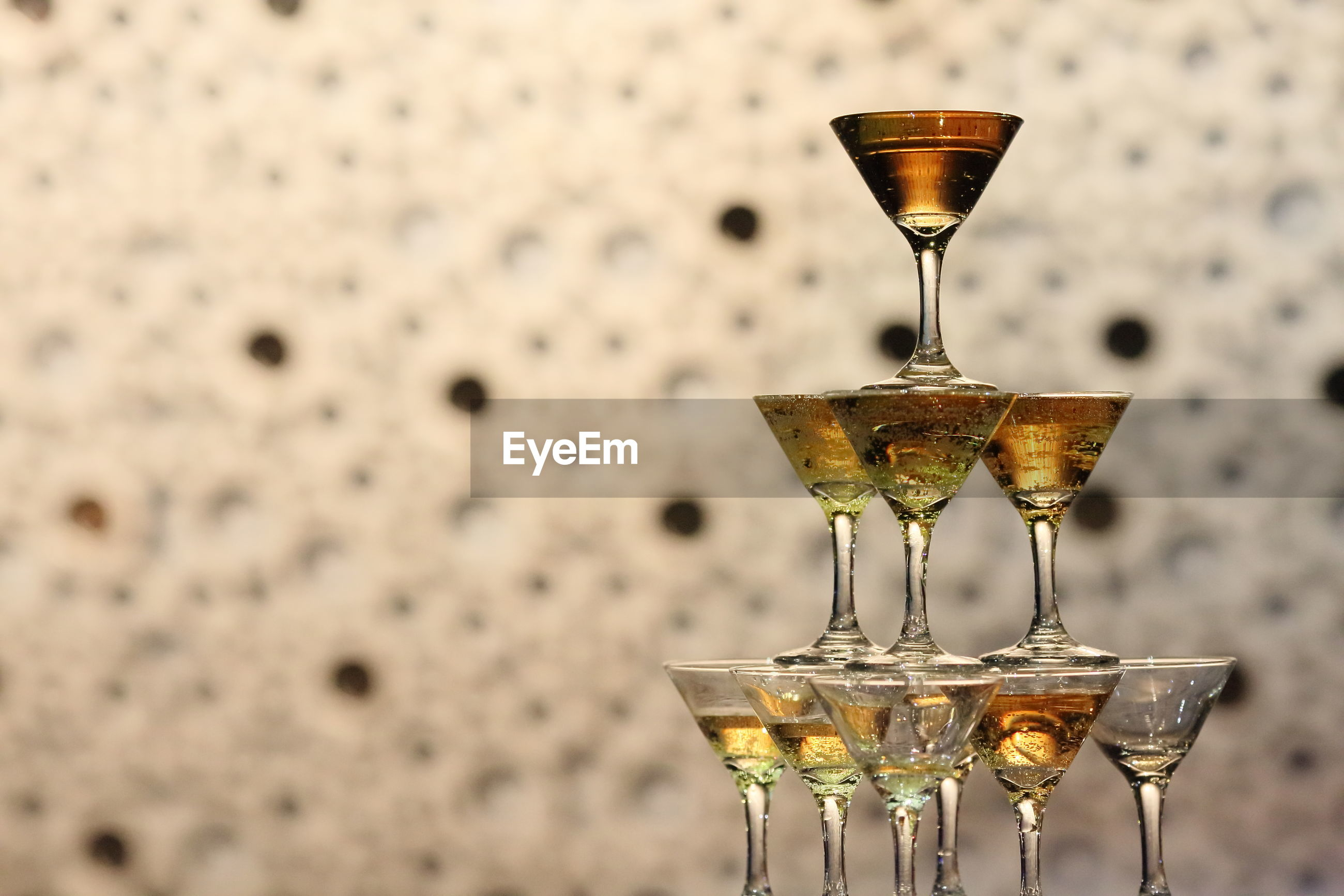 Close-up of drinking glasses