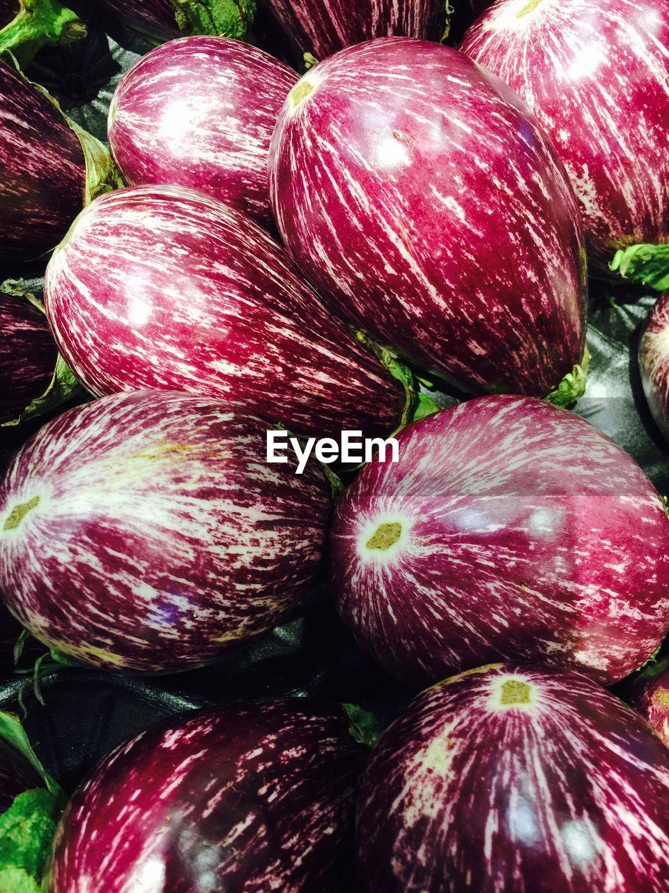 Full Frame Shot Of Eggplants